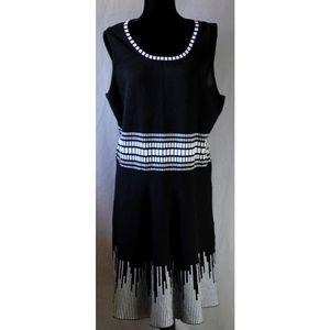 41 Hawthorn | XXL | Black & White Knit Dress